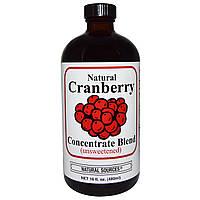 Natural Sources, Натуральный концентрированный напиток из клюквы, Без подсластителей, 16 унций (480 мл), купить, цена, отзывы