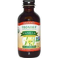 Frontier Natural Products, Органическая ваниль, без спирта, 2 жидких унции (59 мл), купить, цена, отзывы