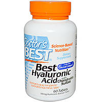 Doctor's Best, Лучшая гиалуроновая кислота с хондроитин сульфатом, 60 таблеток, купить, цена, отзывы