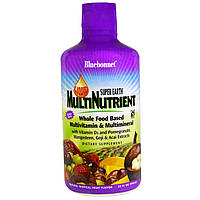 Bluebonnet Nutrition, Жидкое мультипитательное вещество Super Earth, мультивитамины и мультиминералы, натуральный вкус тропических фруктов, 946 мл,