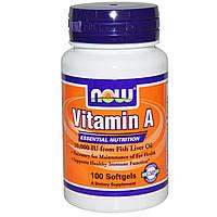 Now Foods, Витамин А, 10000 МЕ, 100 капсул, купить, цена, отзывы