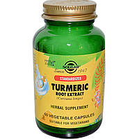 Solgar, Standardized Turmeric Root Extract, 60 Veggie Caps, купить, цена, отзывы