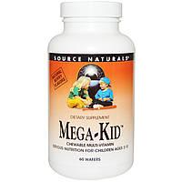 Source Naturals, Жевательные витамины для детей с натуральными ягодными ароматами, 60 пастилок, купить, цена, отзывы