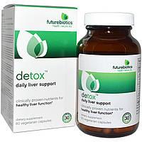 FutureBiotics, Detox, ежедневная поддержка печени, 60 вегетарианских капсул, купить, цена, отзывы