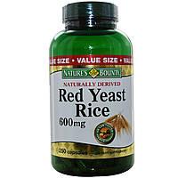 Nature's Bounty, Красный дрожжевой рис, 600 мг, 250 капсул, купить, цена, отзывы