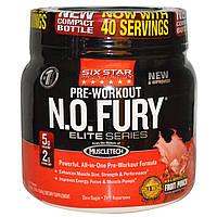 Six Star, Six Star Pro Nutrition, N.O. Fury, предтренировочный комплекс, элитная серия, 1.2 фунта (544 г)