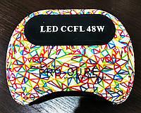 УФ-ЛАМПА ГИБРИД (CCFL+LED) для наращивания ногтей и покрытия гель-лака  Цветные