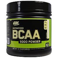 Optimum Nutrition, Порошок BCAA 5000 растворимый, без специй, 12,16 oz (345 г), купить, цена, отзывы
