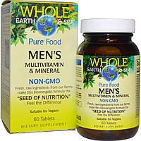 """Natural Factors, Пищевая добавка """"Непочатое море и земля"""", мультивитаминный и минеральный комплекс для мужщин, 60 таблеток, купить, цена, отзывы"""