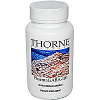 Thorne Research, PharmaGABA-100, 60 вегетарианских капсул, купить, цена, отзывы