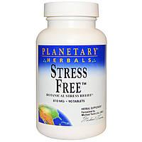 Planetary Herbals, Stress Free, снятие стресса с помощью растений, 810 мг, 90 таблеток, купить, цена, отзывы