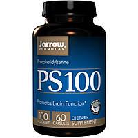 Jarrow Formulas, PS-100, фосфатидилсерин, 100 мг, 60 капсул, купить, цена, отзывы