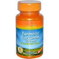 Thompson, Куркумин из куркумы, 300 мг, 60 капсул, купить, цена, отзывы