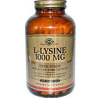 Solgar, L-лизин, свободная форма, 1000 мг, 250 таблеток, купить, цена, отзывы