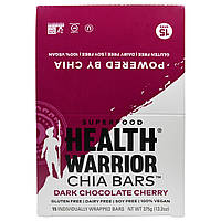 Health Warrior, Inc., Chia Bars, Dark Chocolate Cherry, 15 Bars, 25 g Each, купить, цена, отзывы