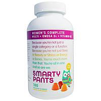SmartyPants, Полный мультивитаминный комплекс для женщин + омега-3 + Витамин K2, 180 жевательных конфет, купить, цена, отзывы
