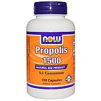 Now Foods, Прополис 1500, 100 капсул, купить, цена, отзывы
