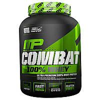 Muscle Pharm, Спортивная серия, белковая сыворотка Combat 100%, капучино, 80 унций (2269 г), купить, цена, отзывы