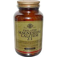 Solgar, Chelated Magnesium Calcium 2:1, 90 Tablets, купить, цена, отзывы