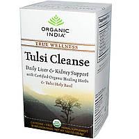 Organic India, Очищающий чай тулси, без кофеина, 18 пакетиков для заваривания, 1,02 унции (28,8 g), купить, цена, отзывы