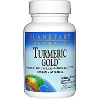 Planetary Herbals, Золотая куркума, 500 мг, 60 таблеток, купить, цена, отзывы