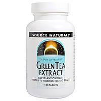 Source Naturals, Экстракт зелёного чая, 500 мг, 120 таблеток, купить, цена, отзывы