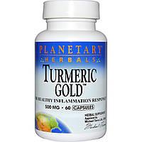 Planetary Herbals, Золотая куркума, 500 мг, 60 капсул, купить, цена, отзывы