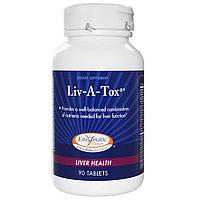 Enzymatic Therapy, Liv-A-Tox, Здоровье Печени 90 таблеток, купить, цена, отзывы