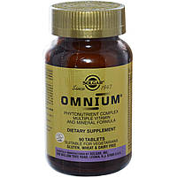 Solgar, Омниум, мультивитаминно-минеральный состав с комплексом растительных веществ, 90 таблеток, купить, цена, отзывы