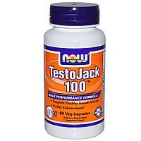 Now Foods, TestoJack 100, 60 растительных капсул, купить, цена, отзывы