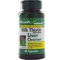 Mason Naturals, Экстракт расторопши (силимарина), формула очищения печени, 60 капсул, купить, цена, отзывы