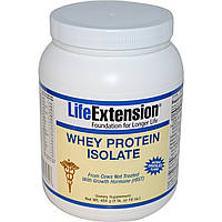 Life Extension, Изолят сывороточного протеина, с натуральным вкусом шоколада, 16 унций (454 г), купить, цена, отзывы