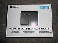 Wi-Fi ADSL модем, до 150Мб/с, 4-х портовый D-Link DSL-2640U - в идеале!!!