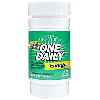 21st Century, Ежедневная энергия, 75 таблеток, купить, цена, отзывы