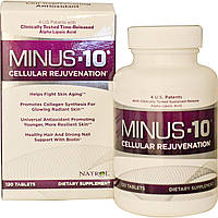 Natrol, Минус-10, клеточное омоложение, альфа-липоевая кислота с эффектом медленного высвобождения, 120 таблеток, купить, цена, отзывы