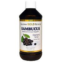California Gold Nutrition, Сироп бузины, без алкоголя, 8 fl oz (237 ml), купить, цена, отзывы