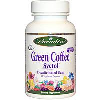 Paradise Herbs, Зеленый кофе, Svetol, 60 капсул на растительной основе, купить, цена, отзывы