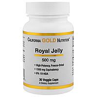 California Gold Nutrition, Маточное молочко, 500 мг, 30 капсул в растительной оболочке, купить, цена, отзывы