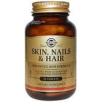Solgar, Solgar, кожа, ногти и волосы, улучшенная формула с метилсульфонилметаном, 60 таблеток, купить, цена, отзывы
