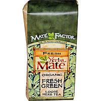 Mate Factor, Органический Йерба Мате, Свежий зеленый листовой травяной чай, 12унций (340г), купить, цена, отзывы