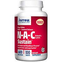 Jarrow Formulas, N-A-C Sustain, N-ацетил-L-цистеин, 600мг, 100таблеток, купить, цена, отзывы