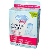 Hyland's, Таблетки с витамином С для детей, натуральный лимонный вкус, 125 таблеток, купить, цена, отзывы