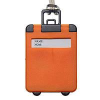Бирка багажная пластиковая, оранжевая, от 10 шт