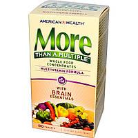 American Health, More Than A Multiple для здоровья мозга, 90 таблеток, купить, цена, отзывы