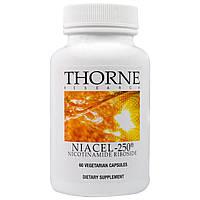 Thorne Research, Niacel-250, никотинамидрибозид, 60 вегетарианских капсул, купить, цена, отзывы