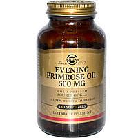 Solgar, Масло энотеры, 500 мг, 180 гелевых капсул, купить, цена, отзывы