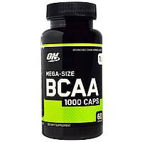 Optimum Nutrition, Аминокислотный комплекс BCAA 1000 Caps, большая упаковка, 1 г, 60 капсул, купить, цена, отзывы