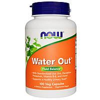 Now Foods, Water Out, баланс жидкости, 100 вегетарианских капсул, купить, цена, отзывы