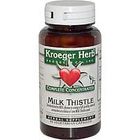 Kroeger Herb Co, Полная концентрация, Расторопша пятнистая, 90 растительных капсул, купить, цена, отзывы