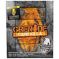 """Grenade, """"Убивец углеводов"""", батончики со вкусом шоколадного крема, 12 батончиков по 2,12 унции (60 г), купить, цена, отзывы"""